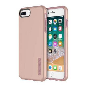 CREYON2D iPhone 8 Plus Case, iPhone 7 Plus Case, Incipio Premium DualPro Shockproof Hard Shell Hybrid Rugged Dual Layer Protective Outer Shell Shock and Impact Absorption Cover (5.5 Inch)- Iridescent Rose Gold