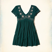 Girls Embellished Babydoll Dress | Girls Dresses & Rompers | HollisterCo.com