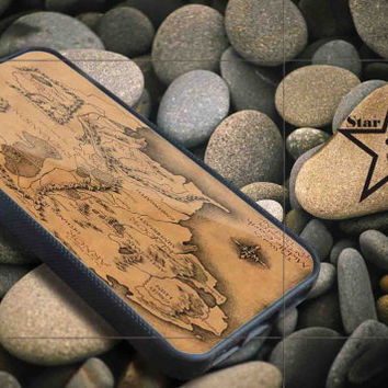 lord of the rings map new iPhone Case, iPhone 4/4S, 5/5S, 5c, Samsung S3, S4 Case, Hard Plastic and Rubber Case By Dsign Star 08