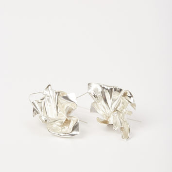 Totokaelo - Closer by Wwake Silver Suspended Earrings - $374.00