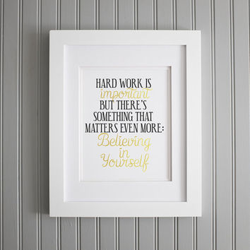 Harry Potter Quote, Believe in Yourself Print, Harry Potter Poster, Harry Potter Print, Harry Potter Hagrid Art Print