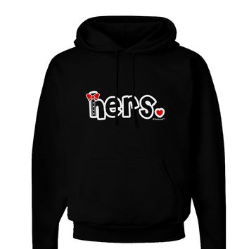 Matching His and Hers Design - Hers - Red Bow Tie Dark Hoodie Sweatshirt by TooLoud