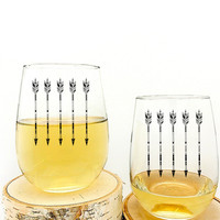 Arrows Wine Glasses