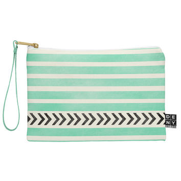 Allyson Johnson Mint Stripes And Arrows Pouch
