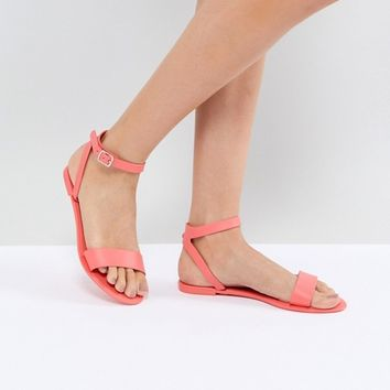 ASOS FELINA Jelly Flat sandals at asos.com