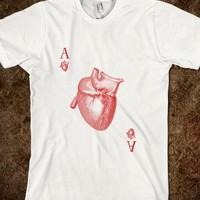 VINTAGE HEART ACE OF HEARTS