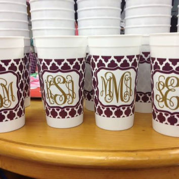 Stadium Game Day Cups with Monogram - 32oz.