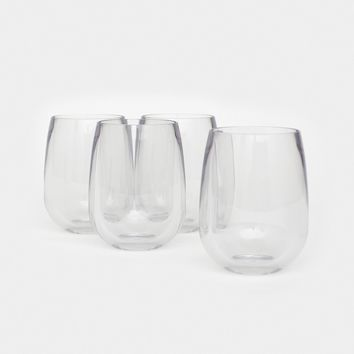 Unbreakable Stemless Wine Glass 4 Pack
