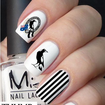 Collingwood Football Club nail decal