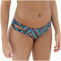 L'Space Estella Black Aztec Split Bikini Bottoms
