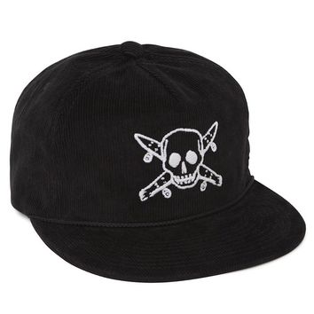 Fourstar Pirate Corduroy Snapback Hat - Mens Backpack - Black - One