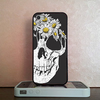 Flower Skull , iPhone 5S case , iPhone 5C case , iPhone 5 case , iPhone 4S case , iPhone 4 case , iPod 4 case , iPod 5 case