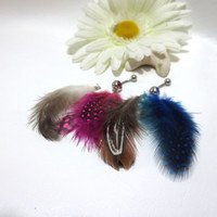 Custom Feather Belly Ring (Message me for color options)