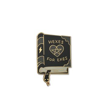 Hexes For Exes Enamel Pin