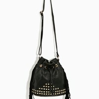 Fringe Stud Bucket Bag