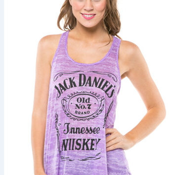 Purple Jack Daniels Tank Top