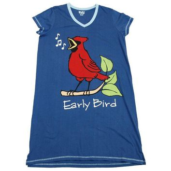 ONETOW Cardinal Early Bird Women's V-Neck Nightshirt