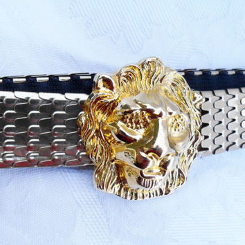 Vintage Gold Lion Cinch Metal Belt