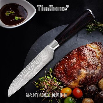 Stainless steel knife 3'5'inch Paring santoku kitchen knives Japanese chef knife Timhome fruit knife cooking tool
