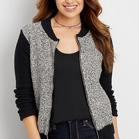 knit bomber cardigan | maurices