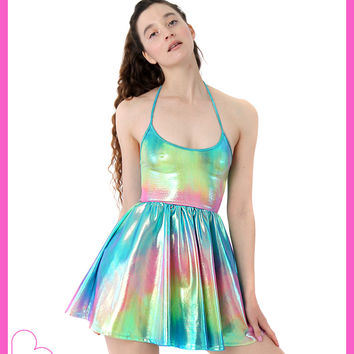 ♔RAINBOW MELT PRINCESA DRESS♔