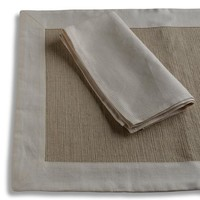 Biancheria Ivory Placemat and Napkin
