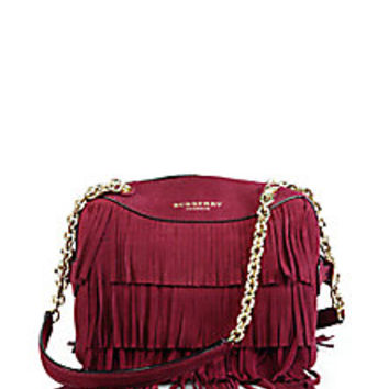 Burberry - Mini Bee Fringed Suede Shoulder Bag - Saks Fifth Avenue Mobile