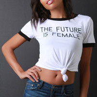 Graphic Knotted Crop Tee | UrbanOG