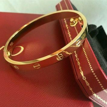 One-nice? Authentic CARTIER Love Bracelet 18K Yellow Gold Size 16 Bangle