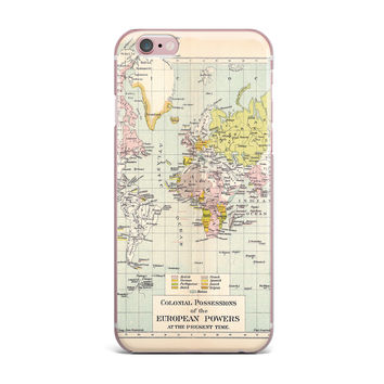 "Catherine Holcombe ""Travel"" World Map iPhone Case"