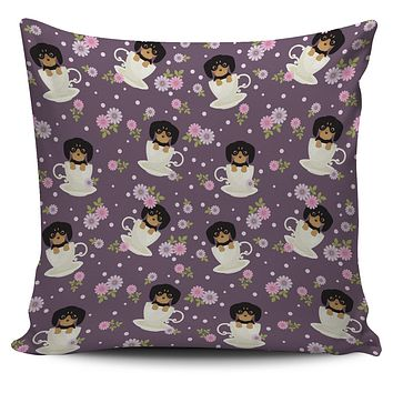 Dachshund Cup Of Tea Pillow Cover