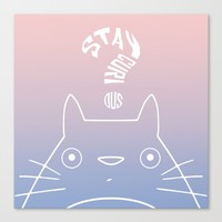 Stay Curious | Serenity & Rose Quartz Canvas Print by Miss L In Art