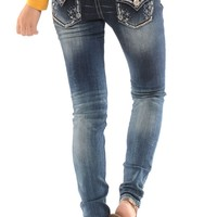 Dark Wash Skinny Jeans | Affordable Trendy and Modest Clothing | Cute Boutique Print Leggings