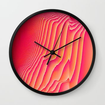 Sorbet Melt Wall Clock by Ducky B