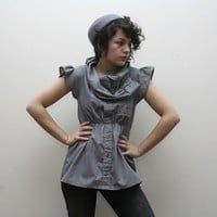 Grey reconstructed top by supayana on Sense of Fashion