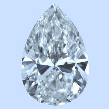 3.30ct F-VS2 Pear Shape Diamond JEWELFORME BLUE Anniversary Bridal Birthday GIA Certified Gift