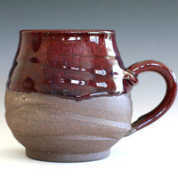 Large Coffee Mug Holds 22 oz handmade ceramic cup by ocpottery