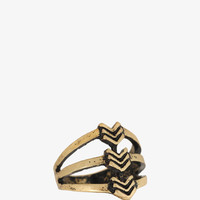 Cutout Arrow Ring