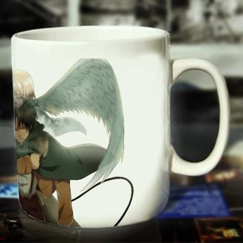 Cool Attack on Titan New  Ceramic Coffee Mug White Color Or Color Changed Cup Angel---Loveful AT_90_11