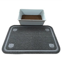 """Cat Litter Box Trapping Mat Extra Large-Pawfect Pet Premium Quality (35""""x24""""). Water Resistant and Non-toxic. Extra Thickness For Tear Resistance, High Durability And Softness"""