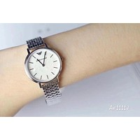 PEAP A003 Armani Emporio Compact watch women's simple small waterproof quartz watches Sliver 1