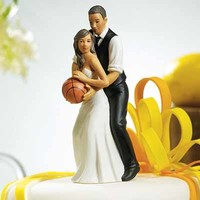 Basketball Dream Team Wedding Cake Topper: Sports Wedding Cake Topper