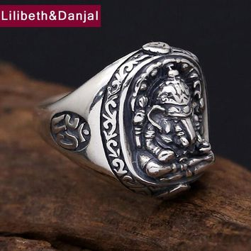 Men Women Animal Ring 100% Real 925 sterling silver Safe Elephant gods engagement ring dropshipping jewelry 2017 R17