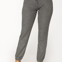 Keep It Basic Lounge Joggers - Charcoal
