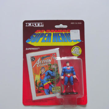 Vintage ETRL Die-Cast Metal Superman 1990 NIB