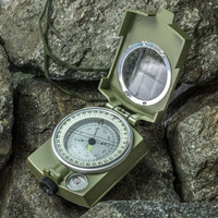2017 Professional Army Outdoor Use Military Geology Pocket Prismatic Compass + Pouch 1 PC