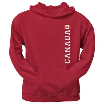 PEAPGQ9 World Cup Canada Red Adult Pullover Hoodie