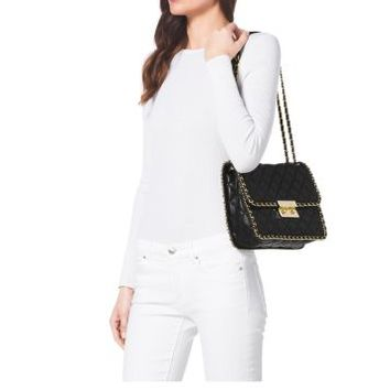 Carine Large Quilted-Leather Shoulder Bag | Michael Kors