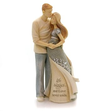 Foundations Pregnant Couple Figurine