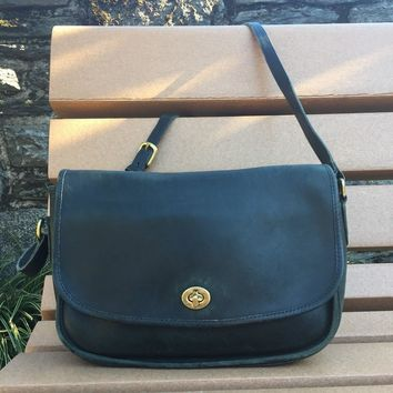Vintage Coach® City Bag - Green
